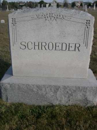 SCHROEDER, FAMILY - Douglas County, Nebraska | FAMILY SCHROEDER - Nebraska Gravestone Photos