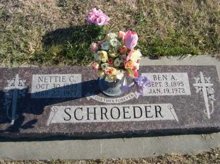 SCHROEDER, NETTIE C. - Douglas County, Nebraska | NETTIE C. SCHROEDER - Nebraska Gravestone Photos