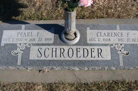 SCHROEDER, CLARENCE F. - Douglas County, Nebraska | CLARENCE F. SCHROEDER - Nebraska Gravestone Photos