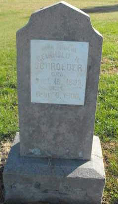 SCHROEDER, REINHOLD - Douglas County, Nebraska   REINHOLD SCHROEDER - Nebraska Gravestone Photos