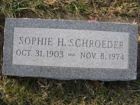 SCHROEDER, SOPHIE H. - Douglas County, Nebraska | SOPHIE H. SCHROEDER - Nebraska Gravestone Photos