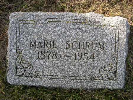 SCHRUM, MARIE - Douglas County, Nebraska | MARIE SCHRUM - Nebraska Gravestone Photos