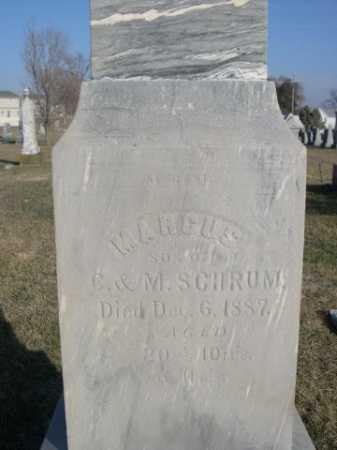 SCHRUM, MARCUS - Douglas County, Nebraska | MARCUS SCHRUM - Nebraska Gravestone Photos