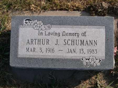 SCHUMANN, ARTHUR J. - Douglas County, Nebraska | ARTHUR J. SCHUMANN - Nebraska Gravestone Photos