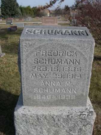 SCHUMANN, FREDRICK - Douglas County, Nebraska | FREDRICK SCHUMANN - Nebraska Gravestone Photos