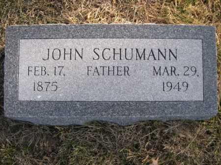 SCHUMANN, JOHN - Douglas County, Nebraska | JOHN SCHUMANN - Nebraska Gravestone Photos