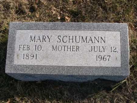 SCHUMANN, MARY - Douglas County, Nebraska | MARY SCHUMANN - Nebraska Gravestone Photos