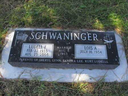 SCHWANINGER, LUDELL - Douglas County, Nebraska   LUDELL SCHWANINGER - Nebraska Gravestone Photos