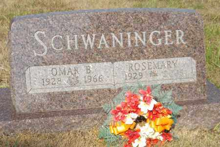 SCHWANINGER, OMAR B. - Douglas County, Nebraska | OMAR B. SCHWANINGER - Nebraska Gravestone Photos