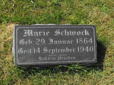 SCHWOCK, MARIE - Douglas County, Nebraska | MARIE SCHWOCK - Nebraska Gravestone Photos