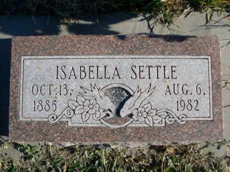SETTLE, ISABELLA - Douglas County, Nebraska | ISABELLA SETTLE - Nebraska Gravestone Photos