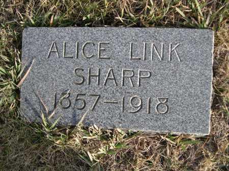 LINK SHARP, ALICE LINK - Douglas County, Nebraska | ALICE LINK LINK SHARP - Nebraska Gravestone Photos
