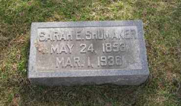 SHUMAKER, SARAH - Douglas County, Nebraska | SARAH SHUMAKER - Nebraska Gravestone Photos