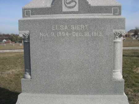 SIERT, ELSA - Douglas County, Nebraska | ELSA SIERT - Nebraska Gravestone Photos