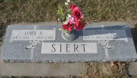 SIERT, JOHN H. - Douglas County, Nebraska | JOHN H. SIERT - Nebraska Gravestone Photos