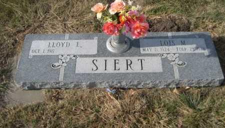 SIERT, LLOYD E. - Douglas County, Nebraska | LLOYD E. SIERT - Nebraska Gravestone Photos