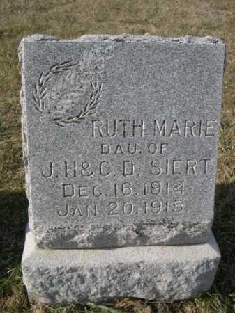 SIERT, RUTH MARIE - Douglas County, Nebraska   RUTH MARIE SIERT - Nebraska Gravestone Photos