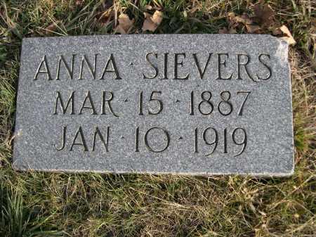 SIEVERS, ANNA - Douglas County, Nebraska | ANNA SIEVERS - Nebraska Gravestone Photos