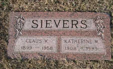 SIEVERS, KATHERINE M. - Douglas County, Nebraska   KATHERINE M. SIEVERS - Nebraska Gravestone Photos
