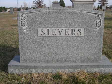 SIEVERS, FAMILY - Douglas County, Nebraska   FAMILY SIEVERS - Nebraska Gravestone Photos