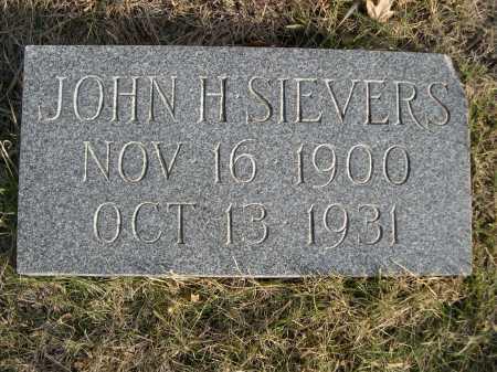 SIEVERS, JOHN H. - Douglas County, Nebraska   JOHN H. SIEVERS - Nebraska Gravestone Photos