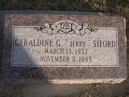 "SIFORD, GERALDINE G. ""JERRY"" - Douglas County, Nebraska | GERALDINE G. ""JERRY"" SIFORD - Nebraska Gravestone Photos"