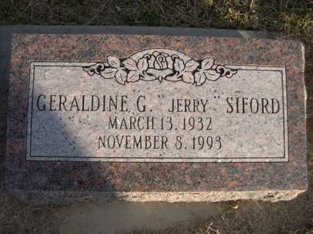 "SIFORD, GERALDINE G. ""JERRY"" - Douglas County, Nebraska 