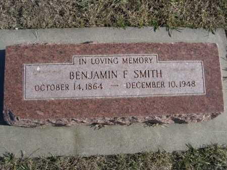 SMITH, BENJAMIN F. - Douglas County, Nebraska | BENJAMIN F. SMITH - Nebraska Gravestone Photos