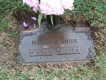 SNIDE, HARVEY A - Douglas County, Nebraska   HARVEY A SNIDE - Nebraska Gravestone Photos
