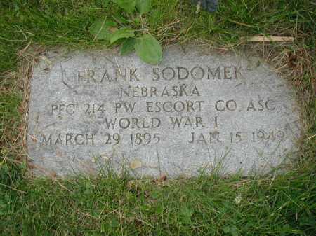 SODOMEK, FRANK - Douglas County, Nebraska | FRANK SODOMEK - Nebraska Gravestone Photos