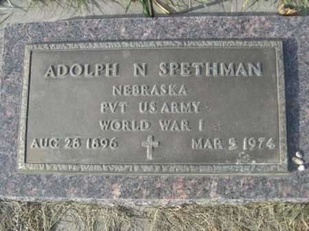SPETHMAN, ADOLPH N. - Douglas County, Nebraska | ADOLPH N. SPETHMAN - Nebraska Gravestone Photos