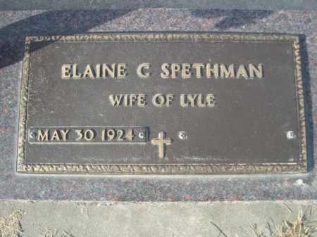 SPETHMAN, ELAINE C. - Douglas County, Nebraska | ELAINE C. SPETHMAN - Nebraska Gravestone Photos