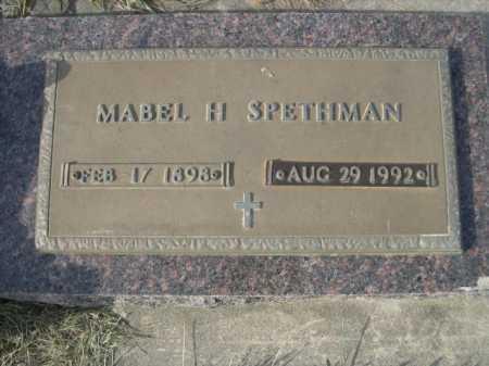 SPETHMAN, MABEL H. - Douglas County, Nebraska | MABEL H. SPETHMAN - Nebraska Gravestone Photos