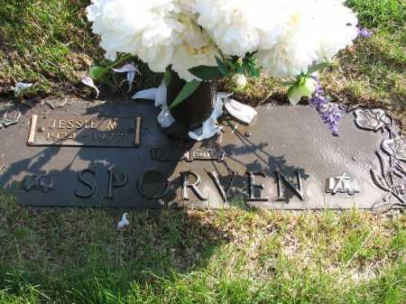 SNIDE SPORVEN, JESSIE M - Douglas County, Nebraska | JESSIE M SNIDE SPORVEN - Nebraska Gravestone Photos