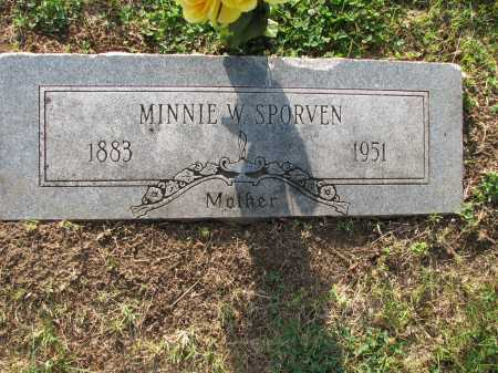 "RUTZ SPORVEN, WILHELMINE CAROLINE ""MINNIE"" - Douglas County, Nebraska | WILHELMINE CAROLINE ""MINNIE"" RUTZ SPORVEN - Nebraska Gravestone Photos"