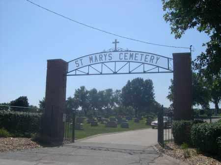 *ST. MARY'S CEMETERY, ENTRANCE TO - Douglas County, Nebraska   ENTRANCE TO *ST. MARY'S CEMETERY - Nebraska Gravestone Photos