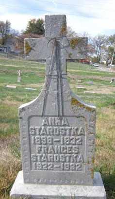 STAROSTKA, FRANCES - Douglas County, Nebraska | FRANCES STAROSTKA - Nebraska Gravestone Photos