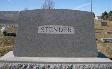 STENDER, FAMILY - Douglas County, Nebraska   FAMILY STENDER - Nebraska Gravestone Photos