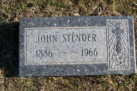 STENDER, JOHN - Douglas County, Nebraska | JOHN STENDER - Nebraska Gravestone Photos