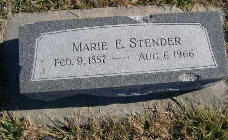 STENDER, MARIE E. - Douglas County, Nebraska | MARIE E. STENDER - Nebraska Gravestone Photos