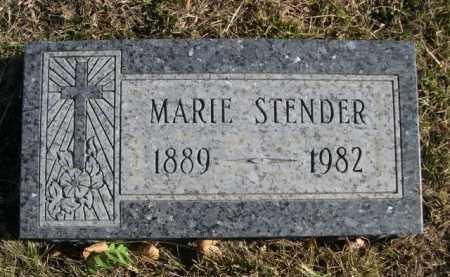 STENDER, MARIE - Douglas County, Nebraska   MARIE STENDER - Nebraska Gravestone Photos