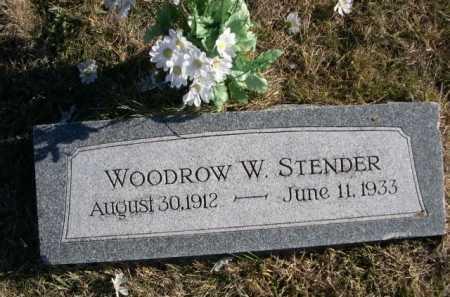 STENDER, WOODROW W. - Douglas County, Nebraska | WOODROW W. STENDER - Nebraska Gravestone Photos