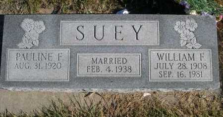 SUEY, WILLAIM F. - Douglas County, Nebraska | WILLAIM F. SUEY - Nebraska Gravestone Photos