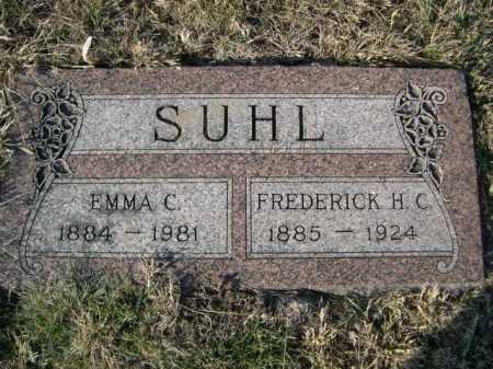 SUHL, FREDERICK H. C. - Douglas County, Nebraska | FREDERICK H. C. SUHL - Nebraska Gravestone Photos