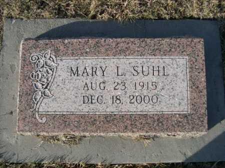 SUHL, MARY L. - Douglas County, Nebraska | MARY L. SUHL - Nebraska Gravestone Photos