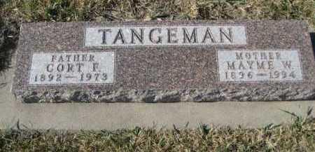 TANGEMAN, MAYME W. - Douglas County, Nebraska | MAYME W. TANGEMAN - Nebraska Gravestone Photos
