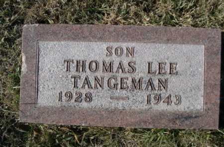 TANGEMAN, THOMAS LEE - Douglas County, Nebraska | THOMAS LEE TANGEMAN - Nebraska Gravestone Photos