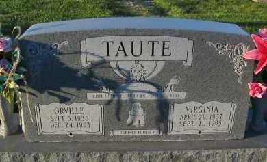 TAUTE, ORVILLE - Douglas County, Nebraska | ORVILLE TAUTE - Nebraska Gravestone Photos