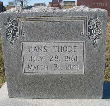 THODE, HANS - Douglas County, Nebraska   HANS THODE - Nebraska Gravestone Photos