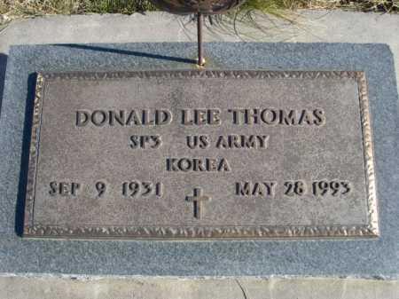 THOMAS, DONALD LEE - Douglas County, Nebraska | DONALD LEE THOMAS - Nebraska Gravestone Photos